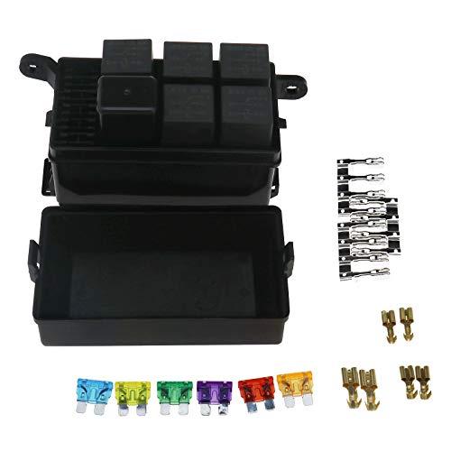 D2D Robuste Kfz-Sicherungsbox für 6 Relais, 5 Strassen- und Terminalrelais - Kfz-versicherung Halter