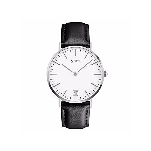 ZEMGE Frauen Uhren Ultra Thin Quarz Analog Wasserdichte Armbanduhr Unisex Business Casual Einfache klassische Design Kleid Silber Ton Armbanduhr mit Edelstahl Fall DW Stil 36mm Fall ZC0604W (Härten Ton)