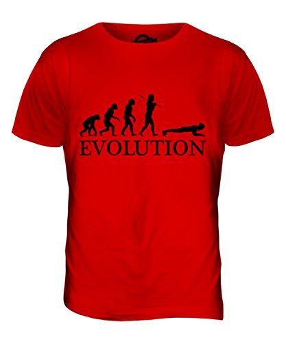 CandyMix Die Planke Evolution Des Menschen Herren T Shirt Rot