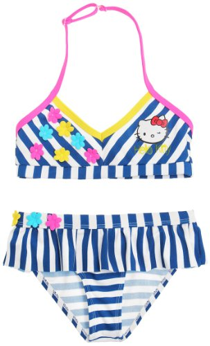 Hello kitty Mädchen Bikini, Gestreift Blau Blau (Hello Kitty Bikini)