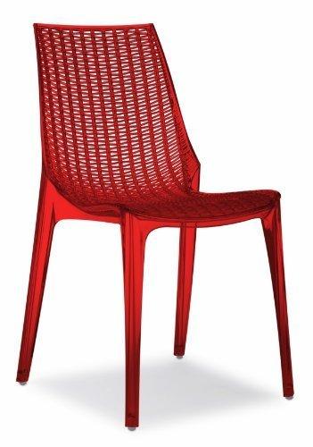 Tricot Chair Scab Rouge Transparent