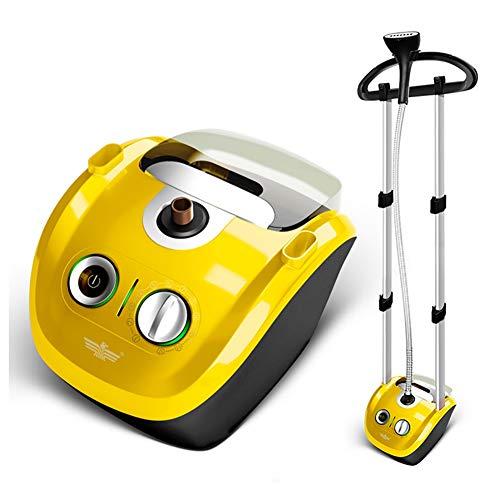 ZNDDB Dampfglätter - Mini-Dampfbügelmaschine für den Haushalt mit elektrischem Bügeleisen, 220V / 2000W, große Kapazität 2.3L,Yellow