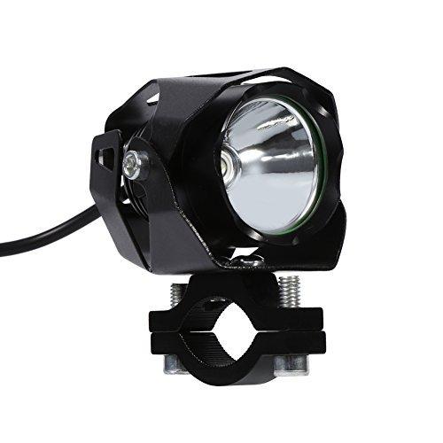 T610W LED moto guida nebbia faro faretto con paralume per auto camion atv-black