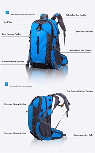 Mode, Reise, Rucksack Doppel-Umhängetasche Big Band Bunte Qualität Rucksack Wasserdichte Tasche 50L 2