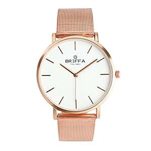Amlaiworld Classic unisex orologio da polso cinturino in acciaio Orologi al quarzo casual (oro rosa)