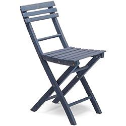Ale 1-Juego de 4sillas plegables en madera azul