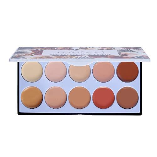 10 Farben-Verfassung Concealer Palette Creme Contouring Highlighter Palette Beauty Foundation-Creme -