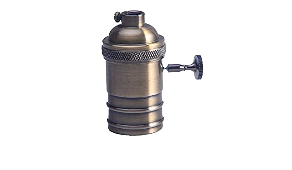 f/ür DIY Pendelleuchte Deckenlampe Retro-Lampenfassung f/ür E26//E27 Antik Kupfer Messing Lampenfassung Schalter Gl/ühbirne Sockel mit An//Aus-Schalter