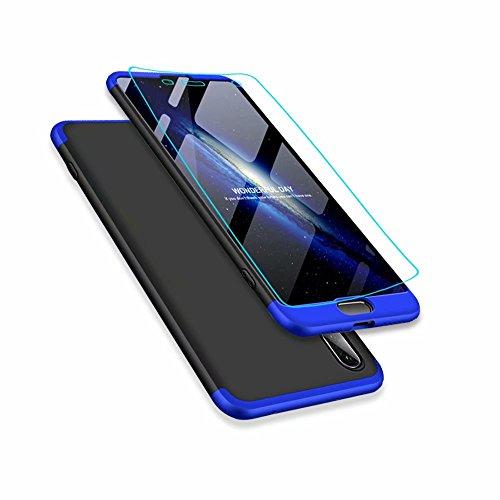 Huawei p20 handyhülle, DYGG Ultra Dünn Soft PC Hartgummi Schutzhülle Huawei p20 Bumper Case Kratzfeste Soft PC Case Anti Rutsch PC Hartgummi Hülle für Huawei p20 Case Cover- Schwarz und Blau