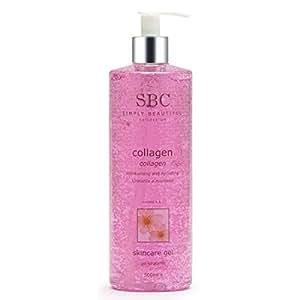 SBC Collagen Gel with pump dispenser, 500ml, face/body moisturiser, FREE Delivery