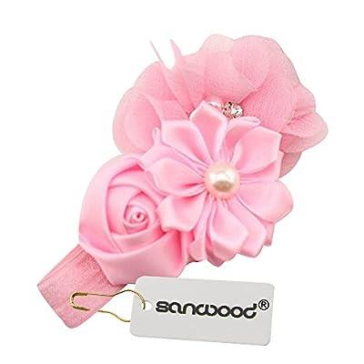 Sanwood® Baby Girl Headband Infant Chiffon Headdress Faux Pearl Hairband : everything five pounds (or less!)