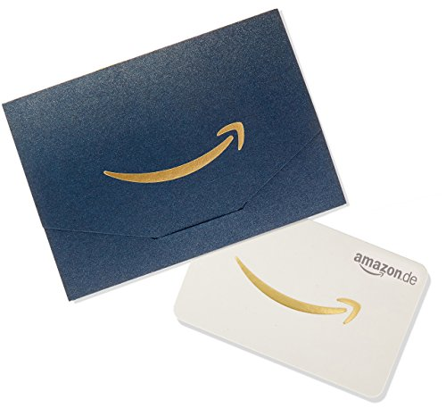 Amazon.de Geschenkkarte in Geschenkkuvert - 50 EUR (Dunkelblau und Gold)
