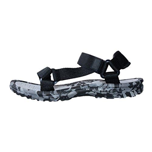 Yiiquanan Hombre Zapatillas de Trabajo Sandalias Sandalias de Verano para Playa Piscina Casual Peep-Toe Zapatos (Azul, EU 40)