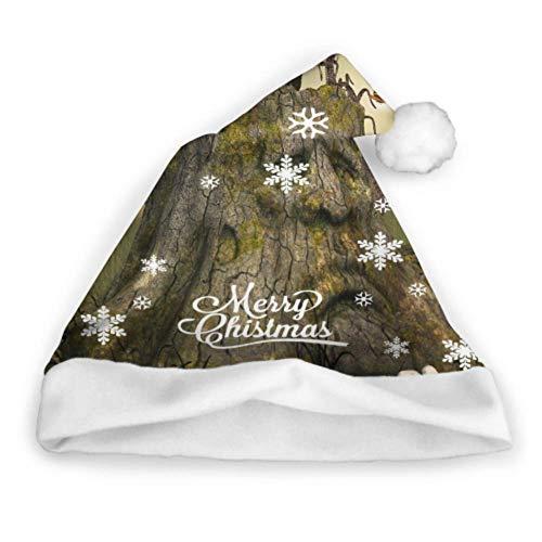 Plosds Fantasy Tree House im tiefen Wald Infant Santa Hut Kids Party Hut Erwachsene Party Neujahr Weihnachten Tag Dekoration Funny Christmas Headwear Weihnachtsmütze und Stirnband -