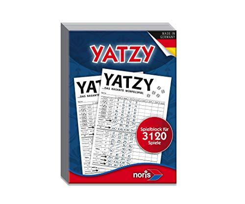Noris 606194305 606194305-Yatzy Spielblock für 3.120 Spiele