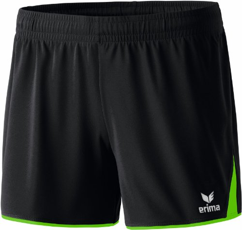 erima Damen Shorts 5-Cubes ohne Innenslip, Schwarz/Green, 40, 615410