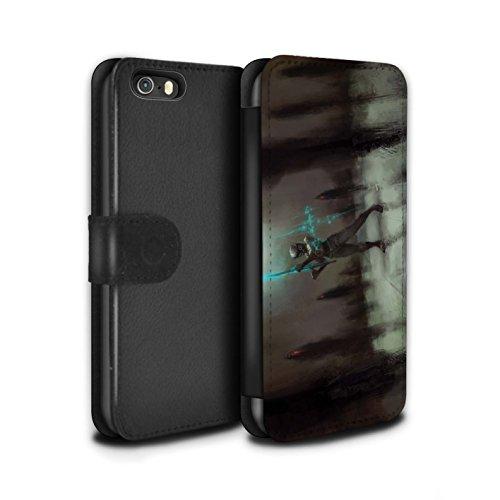 Offiziell Chris Cold PU-Leder Hülle/Case/Tasche/Cover für Apple iPhone SE / Sonnengott/Reben Muster / Unterwelt Kollektion Schatten Ritter