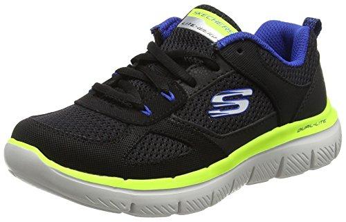 Skechers Jungen Flex Advantage 2.0 Laufschuhe, Schwarz (Black/royal), 30 EU (Jungs Skechers Sportliche Schuhe)