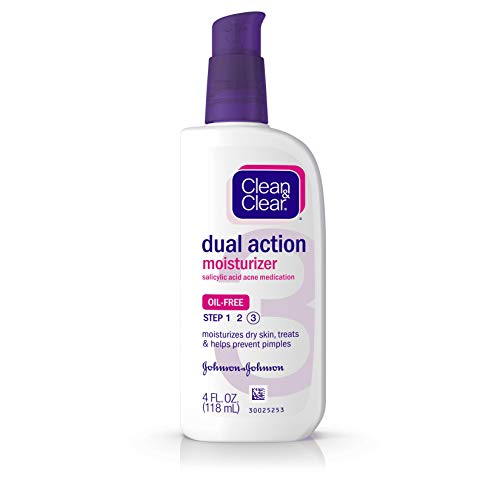 Clean Clear Dual Action Oil-Free Moisturizer - 4 oz - 2 pk