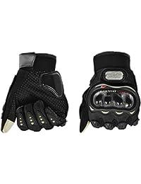 BJ Global Elegante Upgraded Tech Touch–Guantes de dedo completo para moto motocicleta Escalada Senderismo Esquí Snowboard deportes al aire libre caliente guantes gruesos, color negro, tamaño large