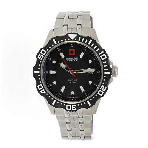 SWISS MILITARY-HANOWA Herren Analog Quarz Uhr mit Edelstahl Armband 06-5306.04.007