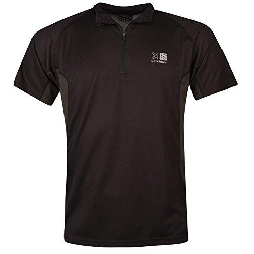 Karrimor da uomo Aspen Zip T Shirt, Black/Charcoal,