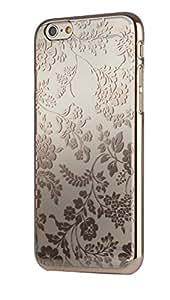 Meliconi Coque pour iPhone 6 4,7'' Motif Chrome Miroir Doré Fleurs Transparent 40614900049BA