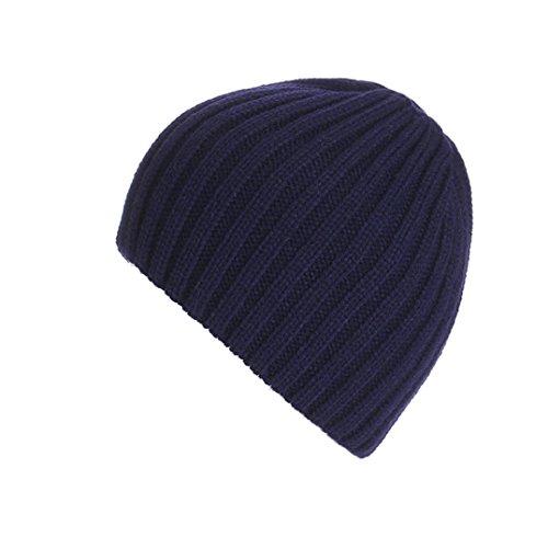 Strickmützen,Amlaiworld Unisex warm knit ski baggy Cap winter Hat (Marine) (Marine-blau-wohnungen)