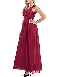 8dd09fee66e6f Freebily Womens Ladies Elegant Embroidered Chiffon Wedding Bridesmaid  Formal Party Prom Maxi Long Dress
