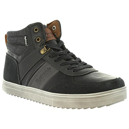 Nero Refresh Uomo Refresh Sneaker Uomo Refresh Uomo Nero Sneaker alta alta Nero Refresh Sneaker alta zqwA1x15