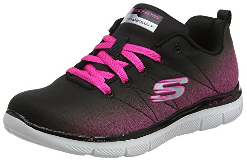 Skechers Girls Appeal 2.0-Bright Side Trainers, multicolour (Black/Hot Pink), 3 UK 36 EU