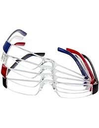 Gafas de lectura en pack de 4 unidades con diferentes graduaciones - sección media de color transparente con patillas de plástico de colores (+3,00 dpt)