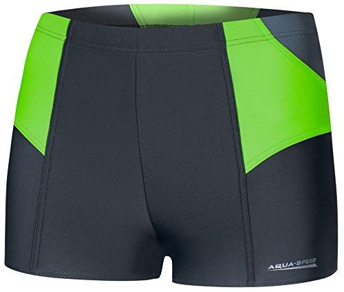 Aqua Speed DEXTER Herren Badehose | Schwimmhose | S-XXXL | Modern | MALAGA Gewebe | Perfect Fit | UV-Schutz | Chlor resistent | Kordelzug, Größe:XL, Farbe:38/gray green