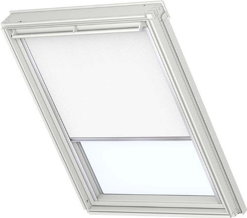 Original VELUX Blackout Blind for Roof Windows DKL 102 1025S in White GGL GHL GPL GXL 102 with channels in aluminium