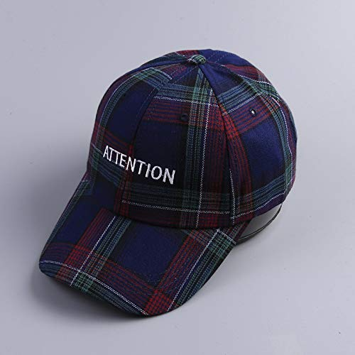 zhuzhuwen Gestickte Buchstaben Adult Plaid Striped Baseball Hat 3Onesize Carhartt Striped Hat