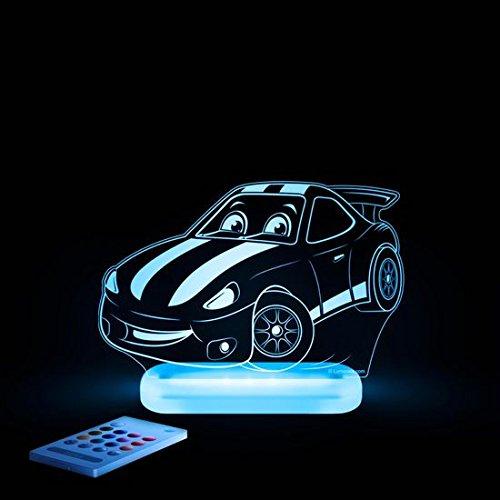 LED Nachtlicht Rennauto mehrfarbig für Kinder mit Fernbedienung