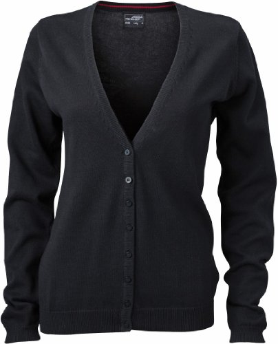 James & Nicholson JN660 Ladies V Neck Cardigan black Size XS