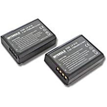 INTENSILO 2x Li-Ion batería 1100mAh (7.4V) para cámara de video, videocámara Canon EOS 1100, 1100D, 1200, 1200D por LP-E10.
