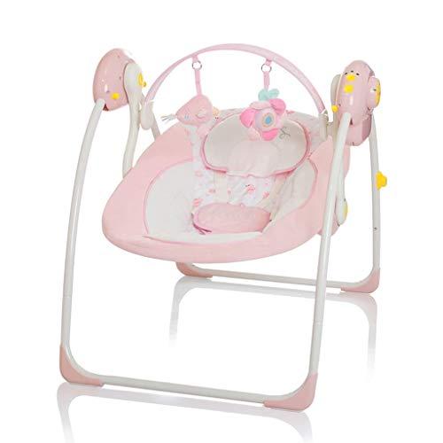 Elektrische Babyschaukel Automatische Baby Wiege Wippe Little World Dreamday rosa