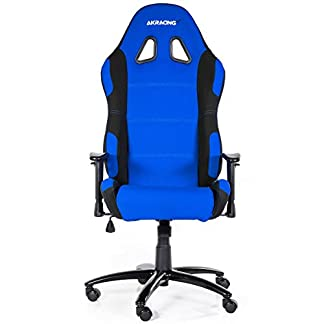AK Racing 7018 – Silla para Gaming, color negro y azul