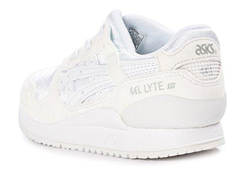 Asics Unisex-Kinder Gel-Lyte Iii Ps Sneakers Weiß
