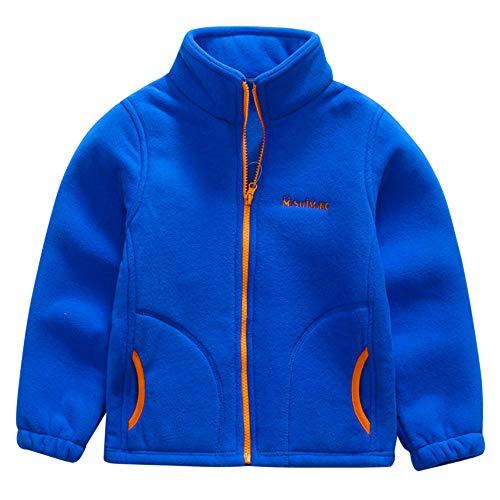 Sannysis Kleinkind Kinder Jungen Winterjacke Fleece Jacken Baseball Mantel Outwear Warme Kleidung Stehkragen Reißverschluss Baseball-Uniform