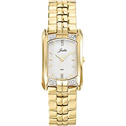 Joalia 631859-Ladies Watch-Analogue Quartz-White Dial-Golden Metal Strap