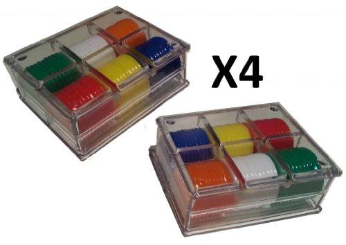 4 x Packs of 60 POKER ROULETTE CHIPS / TOKENS + CASE ROULETTE