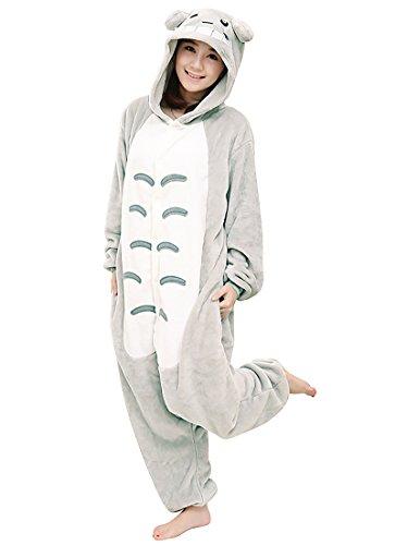 Totoro Kostüm Kigurumi - CoolChange Kuscheliger Totoro Fleece Overall Größe: L