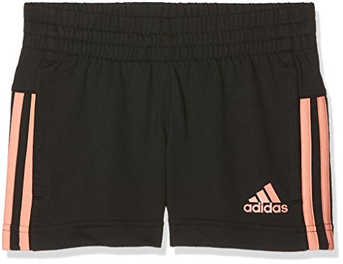 adidas Mädchen Knitted Shorts, Black/Chalk Coral, 128