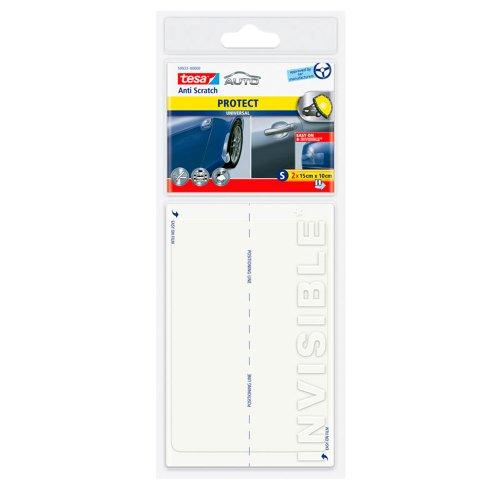 Preisvergleich Produktbild tesa Autoschutzfolie Universal Größe S, 15cm x 10cm, 2 Stück