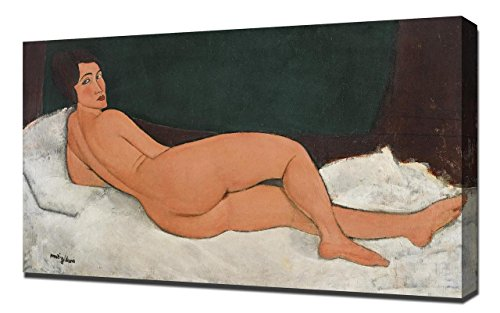Amedeo Modigliani Kunstdruck (Lilarama Amedeo Modigliani Nude Nu Couche - Art Leinwandbild - Kunstdrucke - Gemälde Wandbilder)