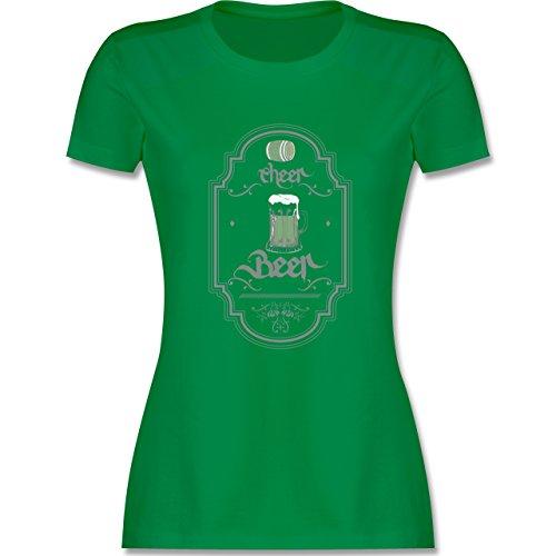 Statement Shirts - Cheer Beer - tailliertes Premium T-Shirt mit Rundhalsausschnitt für Damen Grün