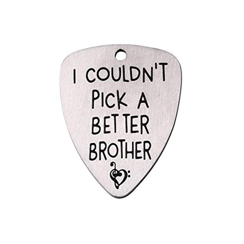 VORCOOL Titanium Steel Carved Guitar Pick Ich konnte keinen besseren Bruder auswählen. Eingravierte Ukulele-Auswahl für Musikinstrument-Zubehör